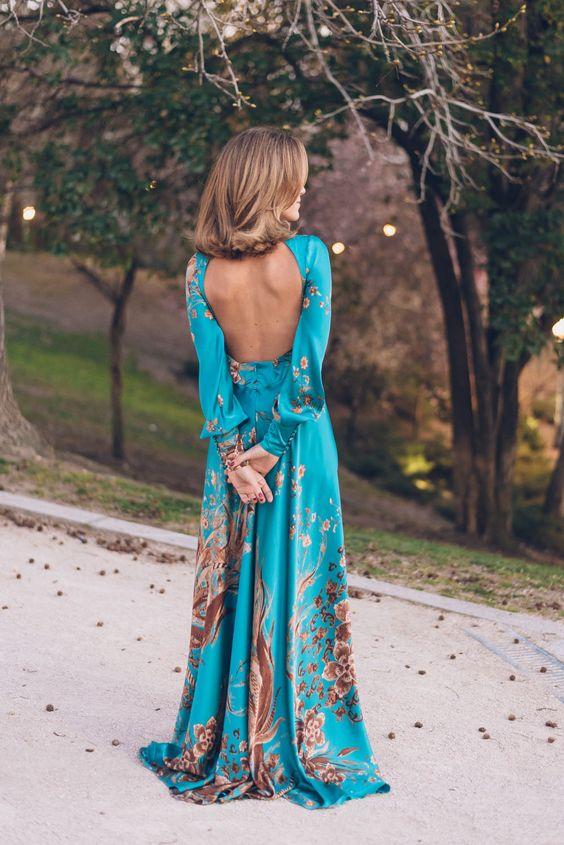 vestido largo escote espalda