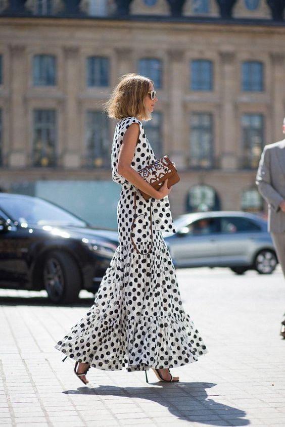 vestido lunares invitada boda