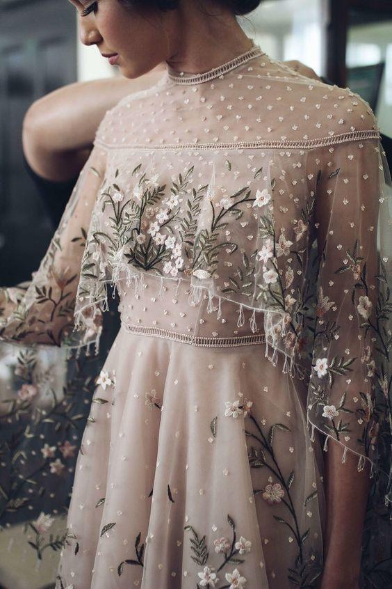 vestido novia bordado