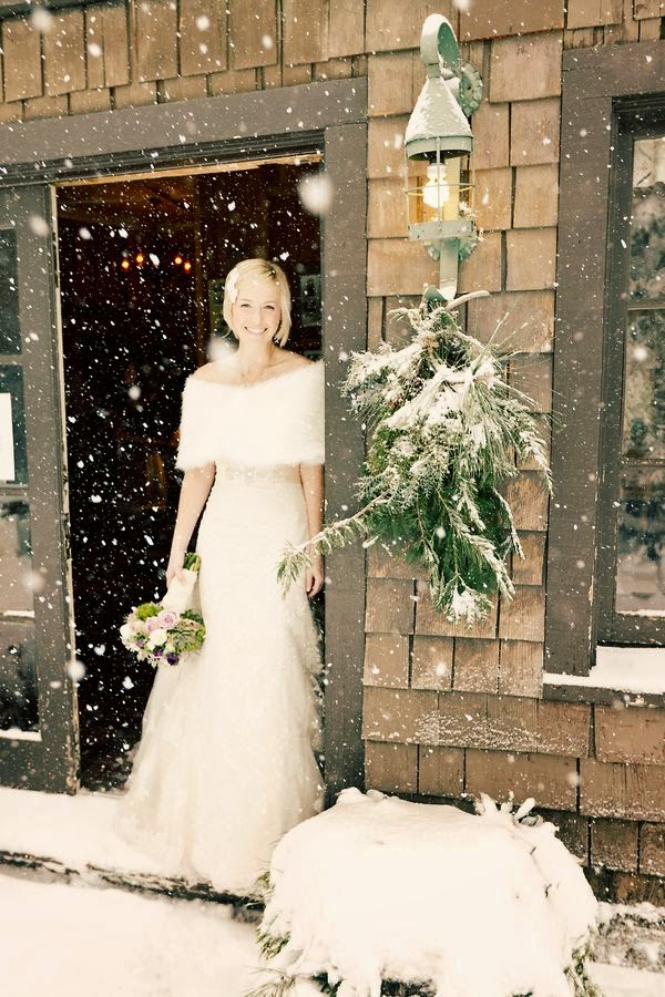 novia invierno estola