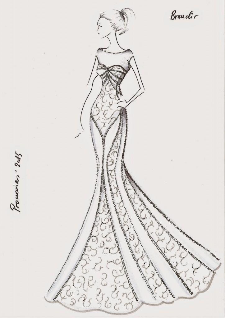 vestidos de novia para dibujar a lapiz – los vestidos de noche son