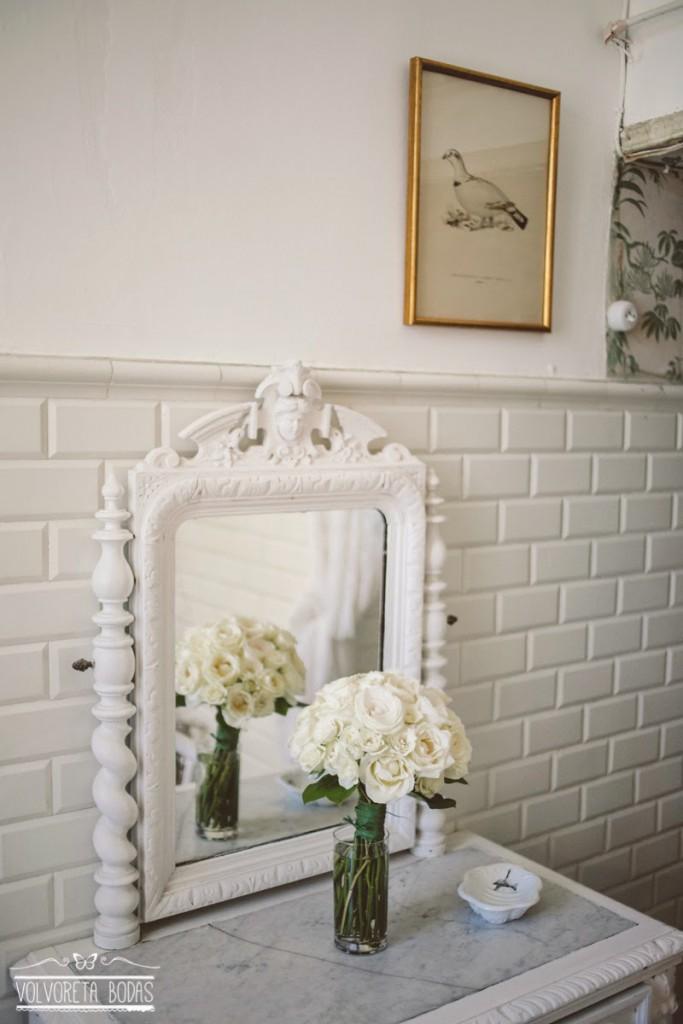 ramo novia rosas blancas