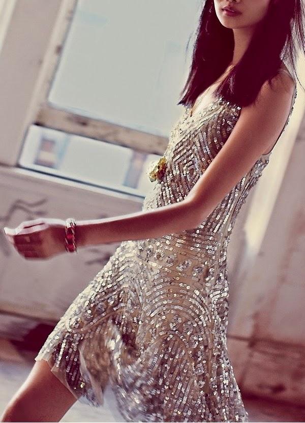 vestido invitada paillettes