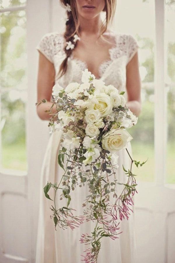 ramo novia cascada