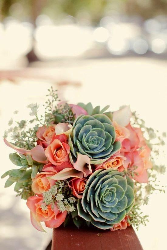 ramo novia con vegetales