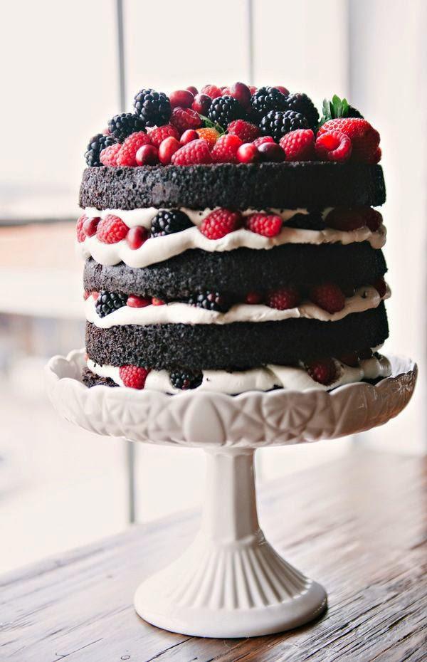 naked cake frutos rojos