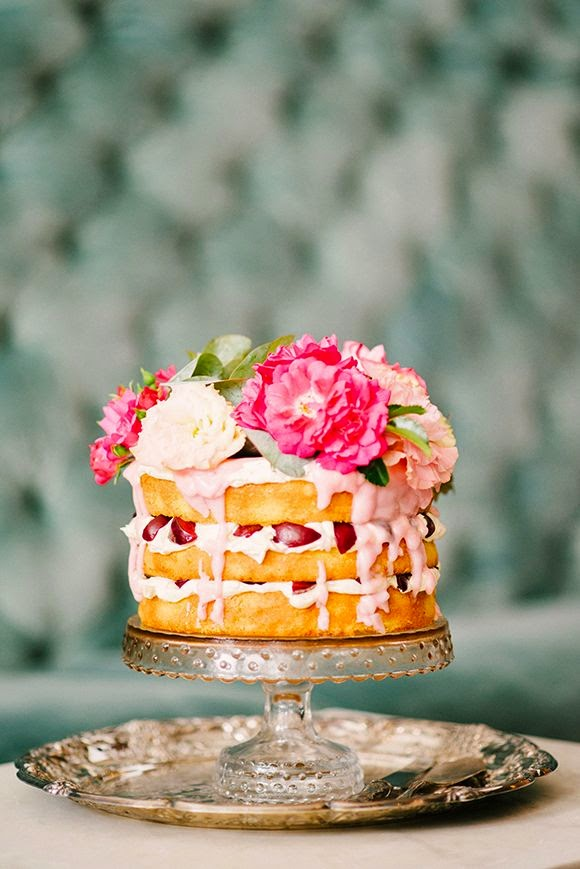naked cake flores naturales