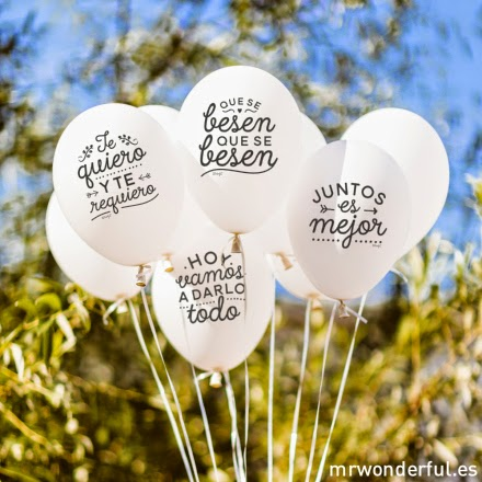 globos boda Mrwonderful