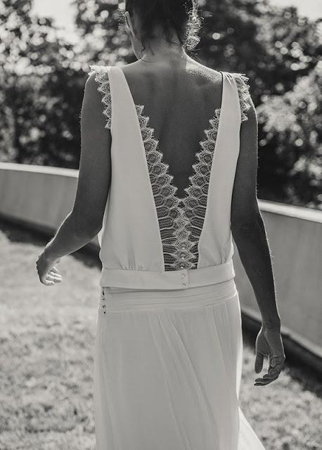 vestido novia laure de sagazan espalda descubierta