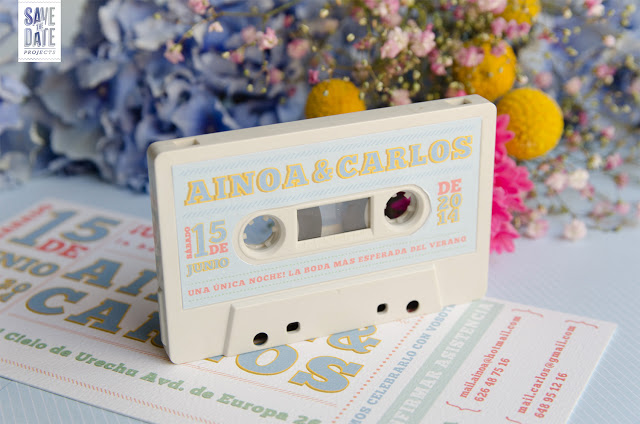 invitacion boda save the date projects cassette