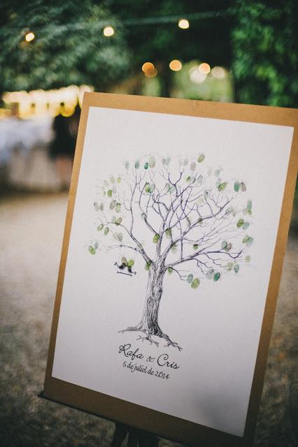 arbol huellas boda
