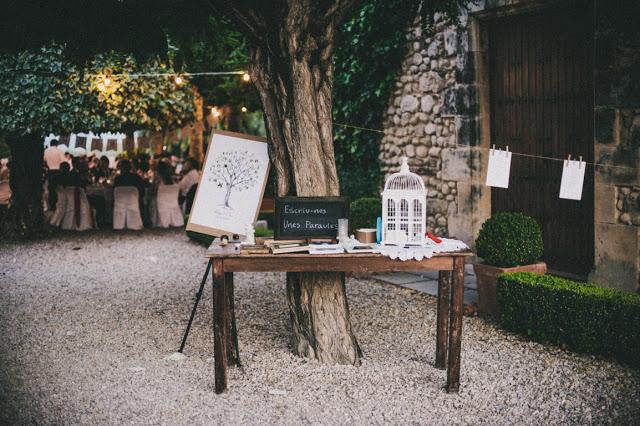 mesa firmas boda