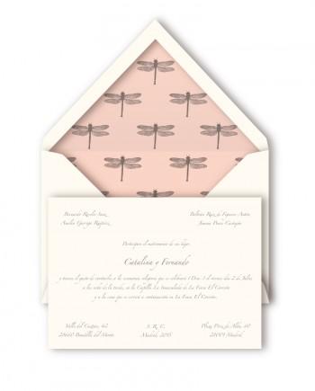 invitacion boda querida valentina libelulas