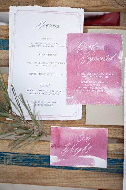 invitaciones boda acuarela