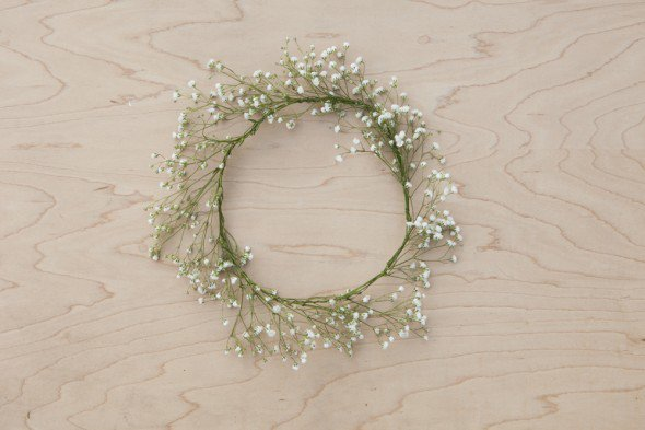DIY Elabora una corona de paniculata para las nias de tu boda