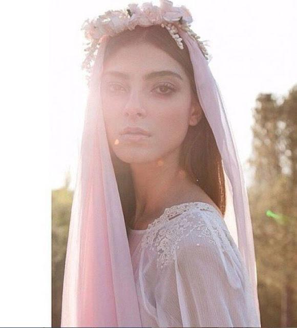 velo rosa novias elegantes