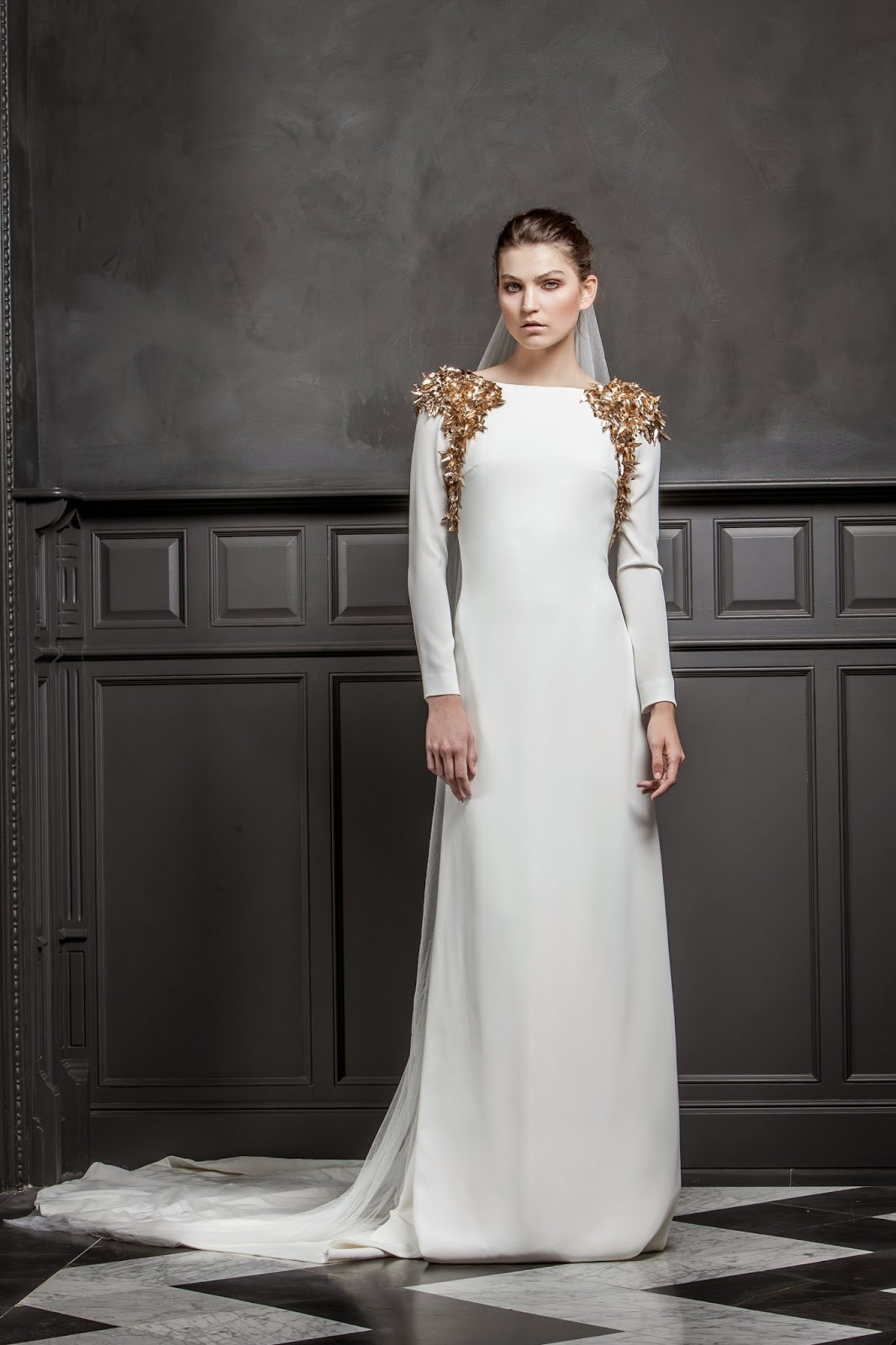 Vestidos de novia sencillos 2015