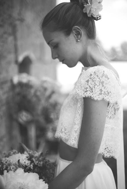 wedding dress crop top