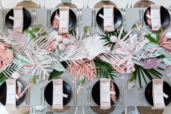 palmeras decoracion boda