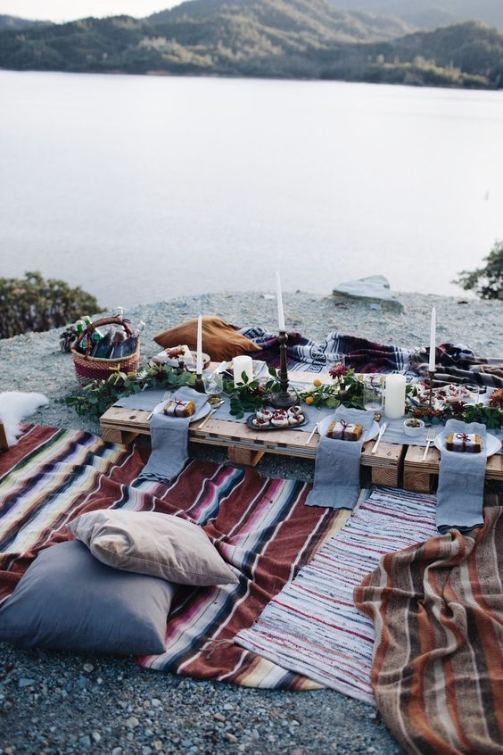 boda rustica mesa sin mantel