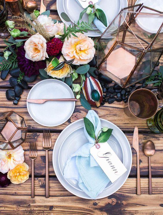 mesa boda rustic