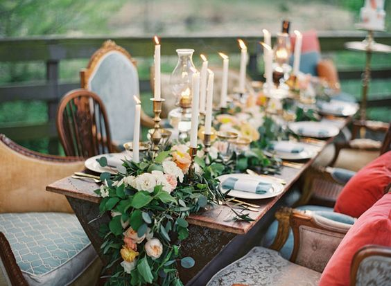 mesa boda sin mantel