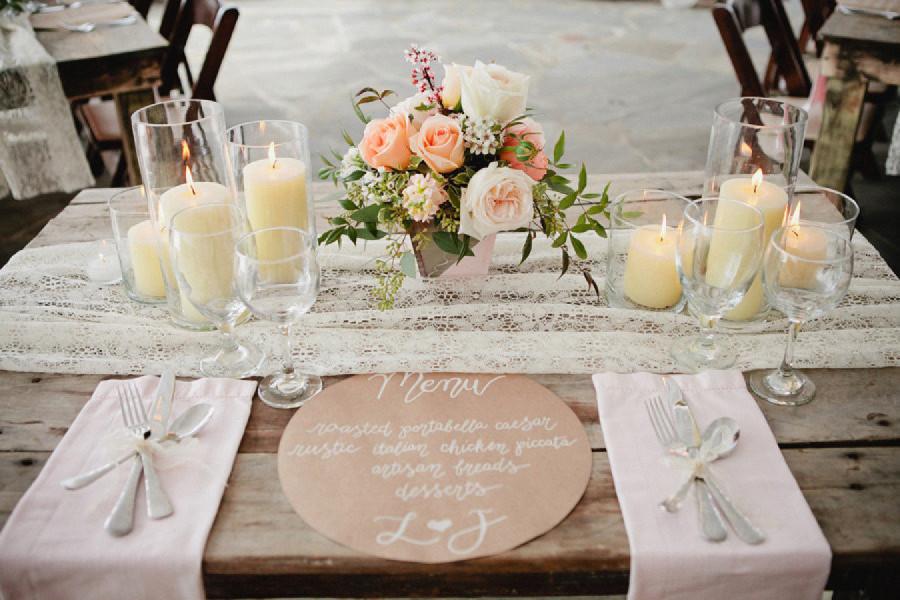 mesas boda sin mantel