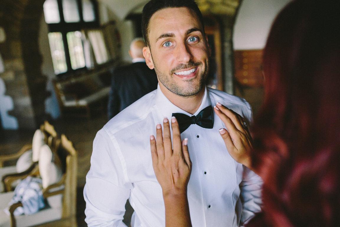 novio pajarita boda