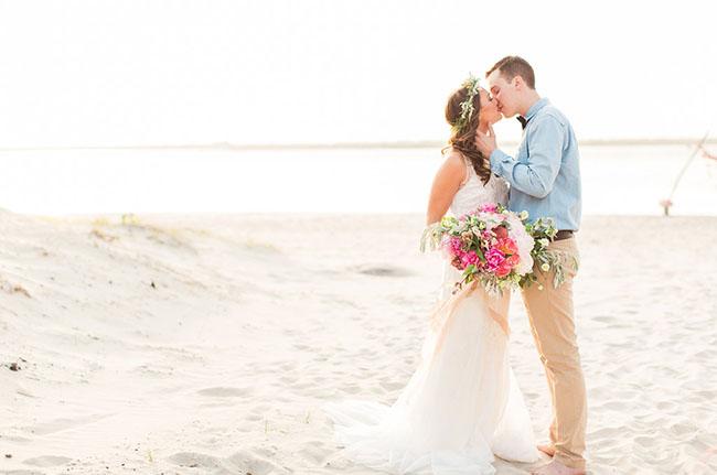 boda playa atardecer