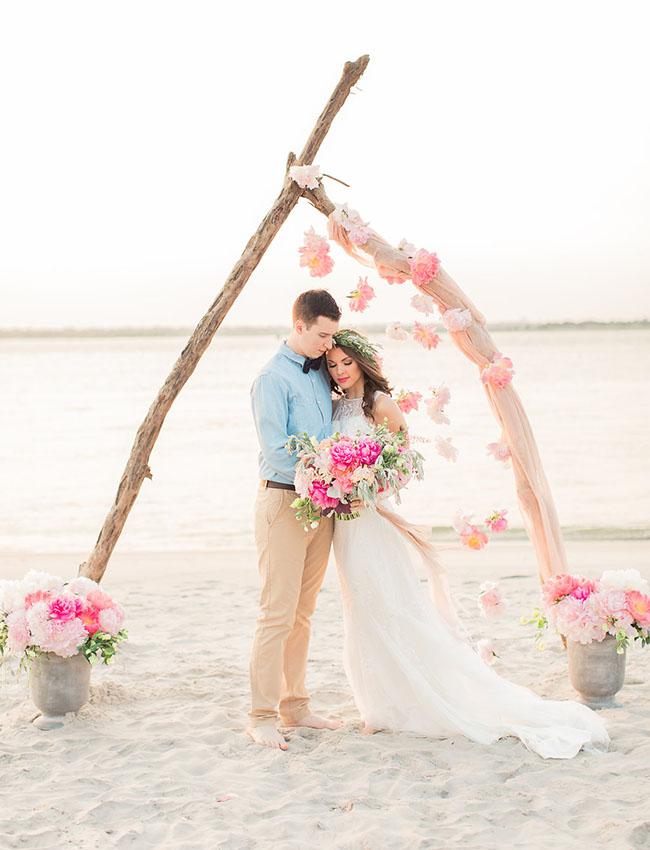 decoracion ceremonia boda playa
