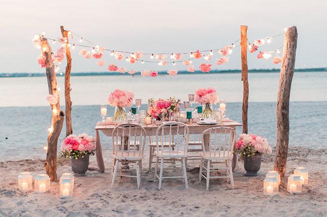 mesa boda playa