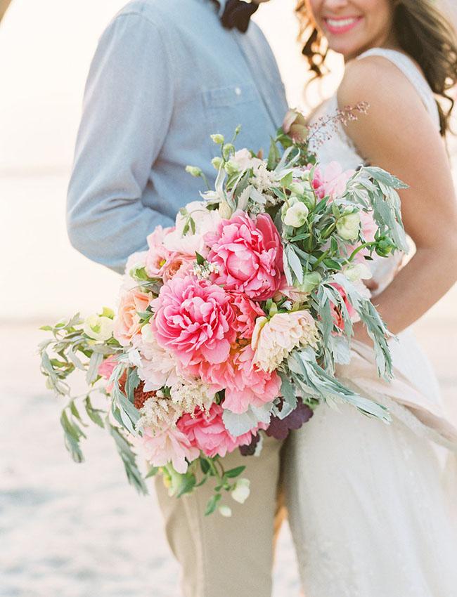 ramo rosa novia