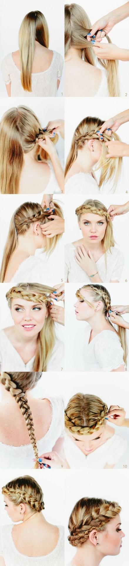 tutorial peinado corona trenza invitada