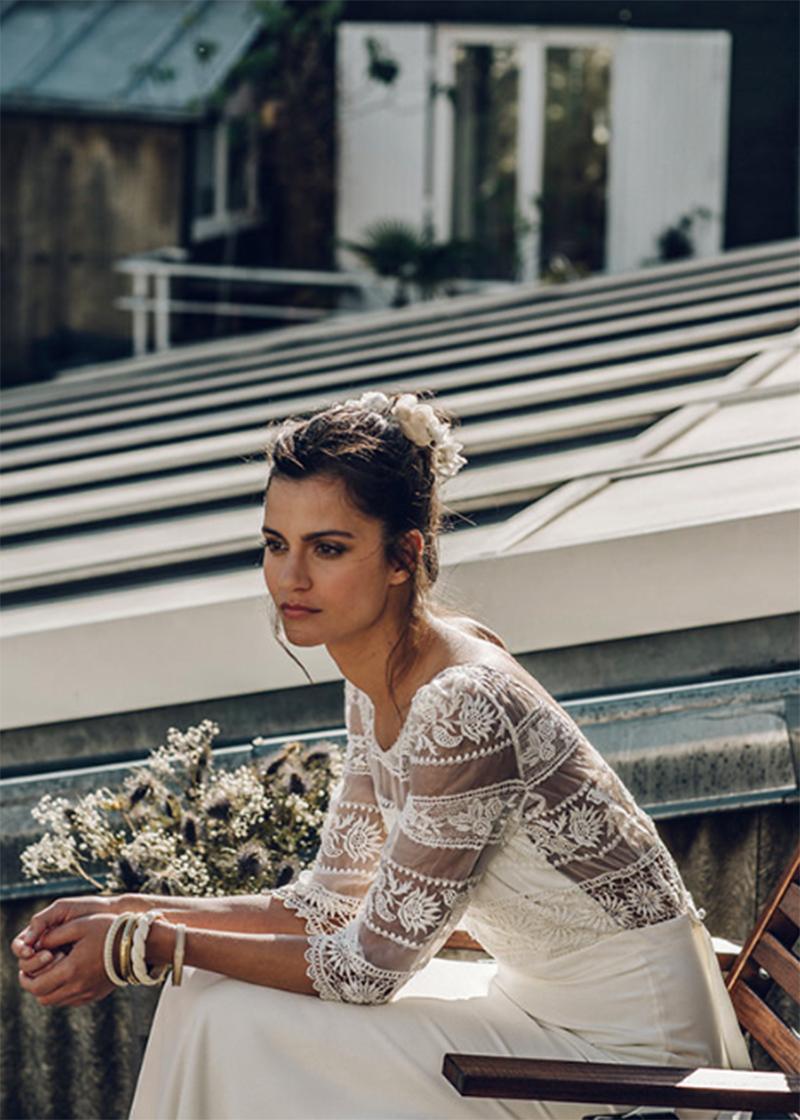 vestido de novia artesanal