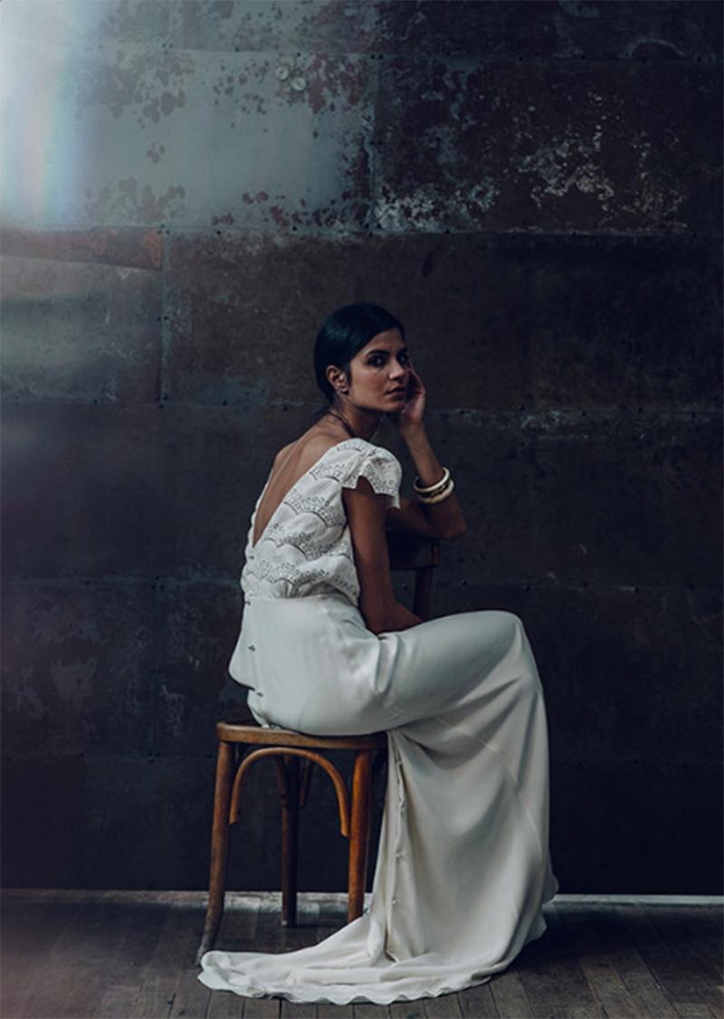 wedding dress laure de sagazan