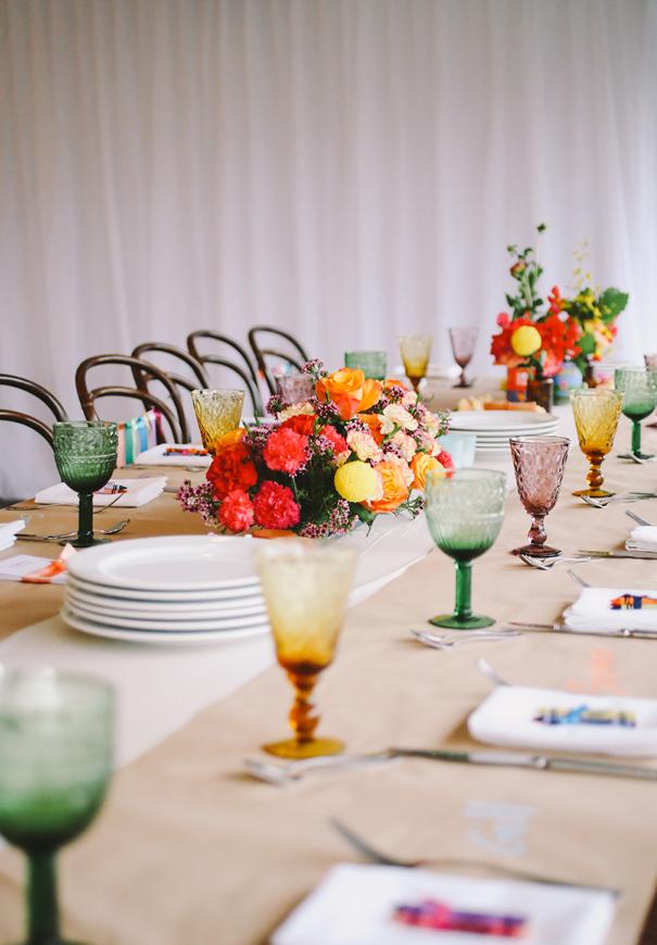 centro de mesa colores vivos