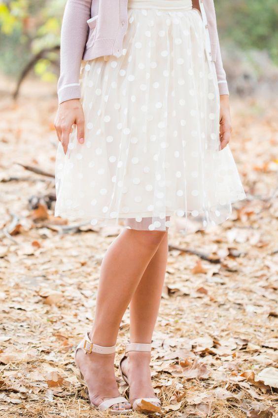 falda de tul de lunares