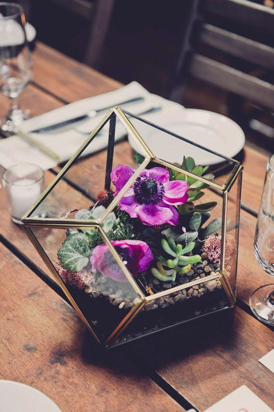 terrario flores frescas boda