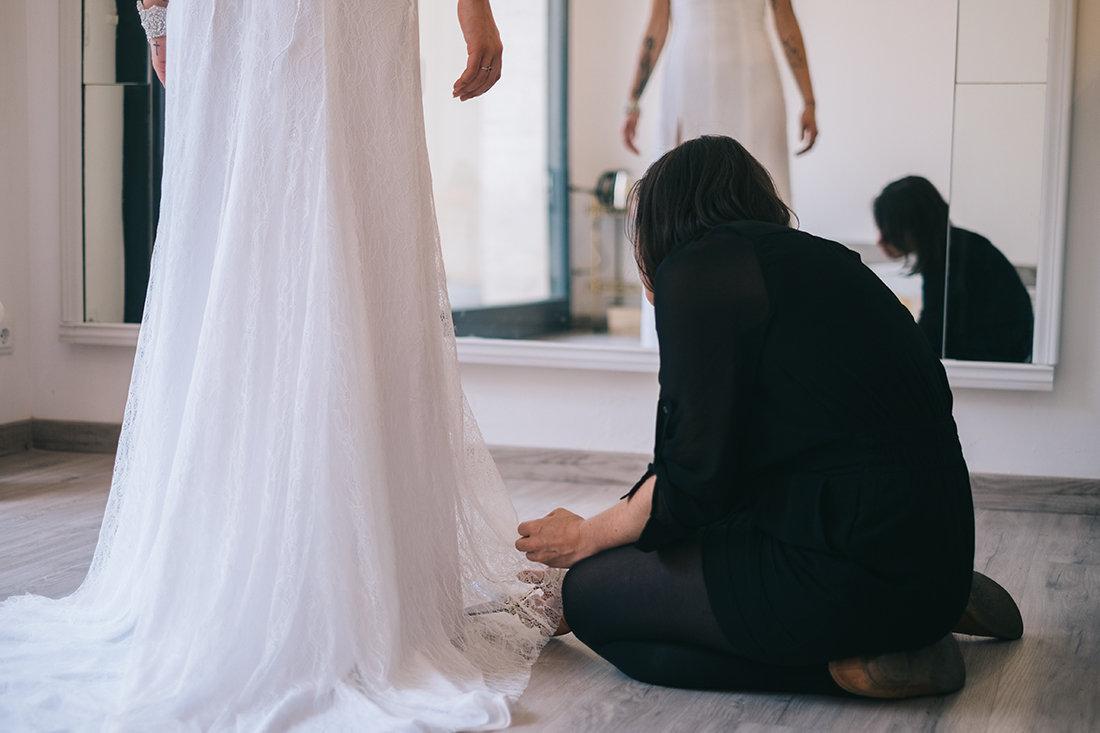 modista vestido de novia barcelona