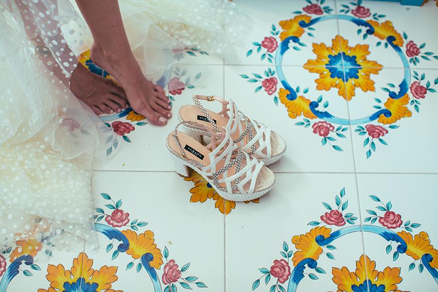 zapatos sandalias de novia originales