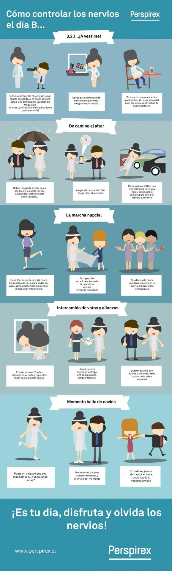 tips controlar nervios boda