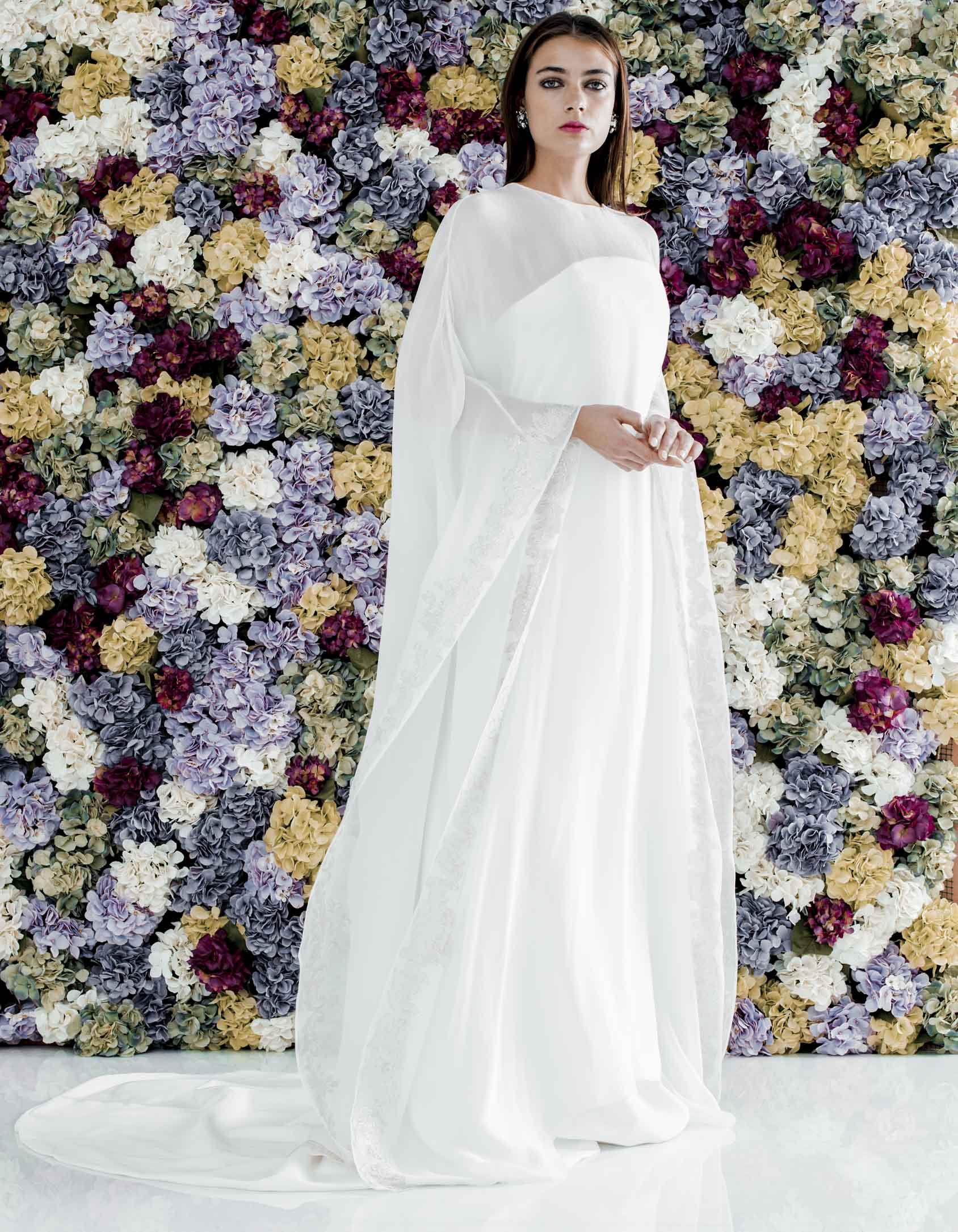 vestido capa para novias