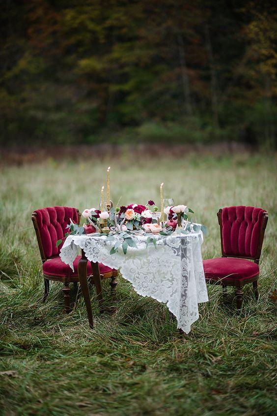 decora tu boda con terciopelo