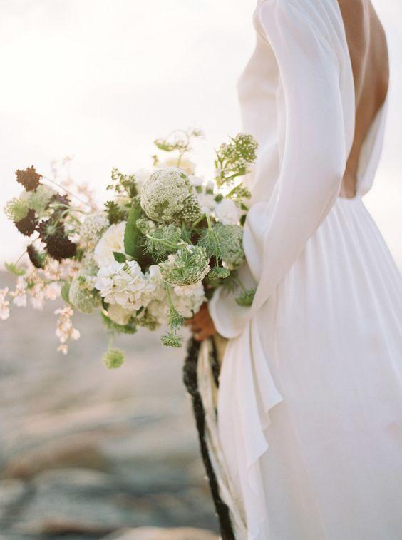 manga larga novia sencilla