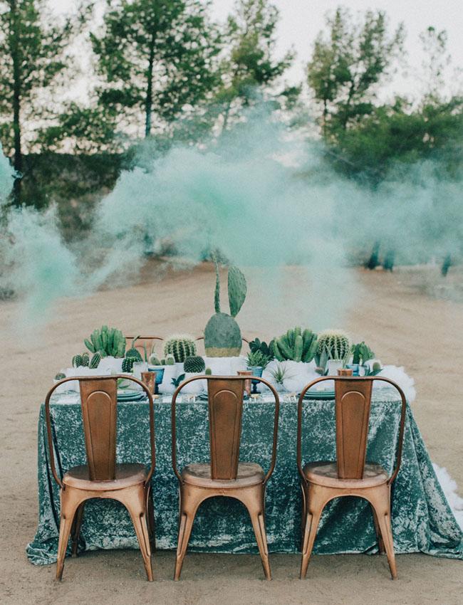 mesa boda con cactus