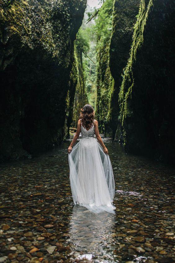 novia con falda de tul