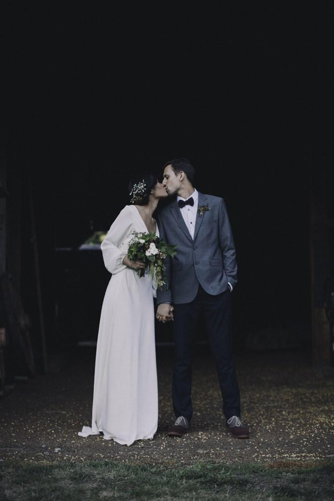 novia vestido mangas ablusonadas