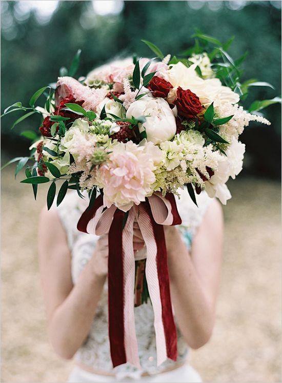 ramo novia terciopelo