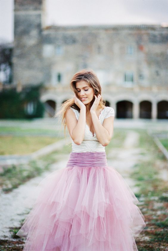 tulle skirt purple