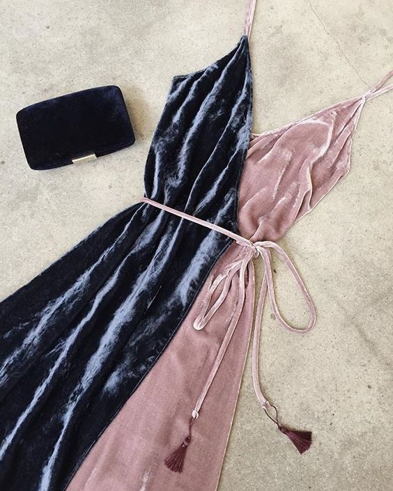 vestido invitada terciopelo